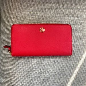 Tory Burch red wallet
